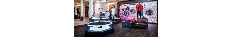 Retail Display Lighting: Nike House of Hoops LeBron VIII