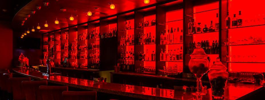 Hotel Lounge LED Lighting Makeover