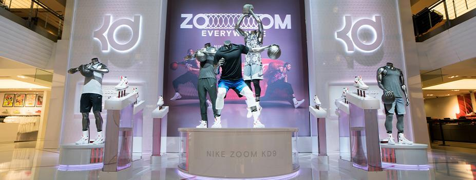 Retail Display Lighting: KD9 Launch - Niketown, NYC