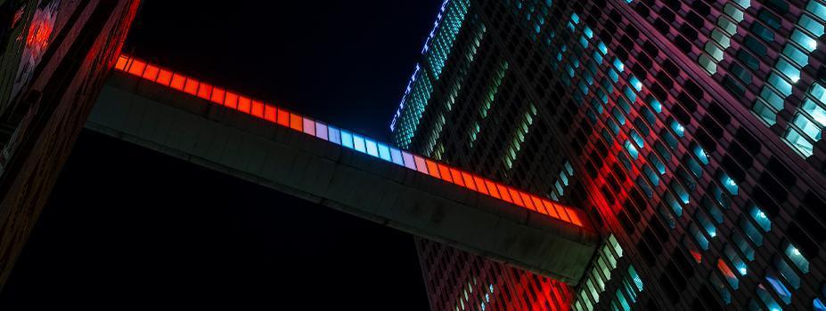 Architectural LED Lighting: Detroit Skybridge