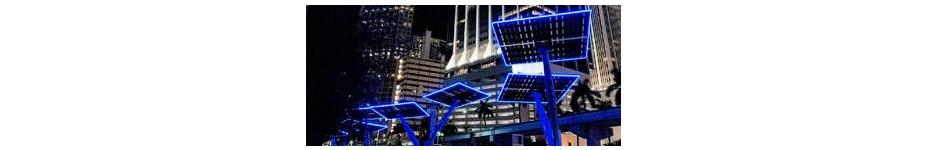 Architectural Lighting: LED Neon Solar Trees