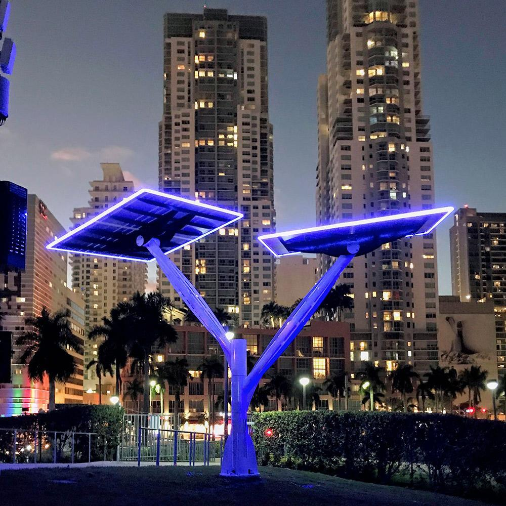 Architectural LED Lighting: Solar Trees