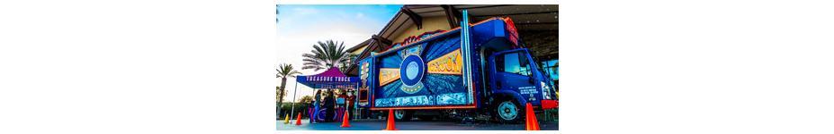 Custom Retail Lighting: Amazon Treasure Truck