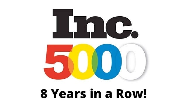 Inc. 5000 - 8 Years in a Row